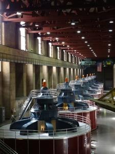 Dam turbines