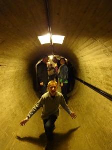 Inside dam tunnel