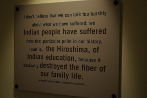 Indian boarding school exhibit - by far the most interesting part of the museum