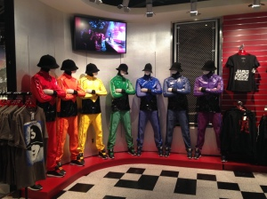 Jabbawockeez dance crew store mannequins