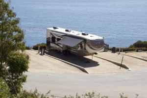 Malibu RV Park on a cliff