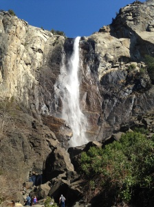 Closer view of Bridalveil Falls