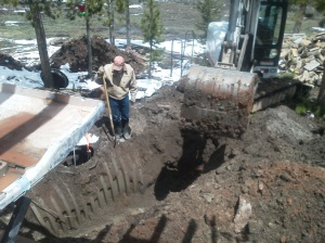 New septic dig