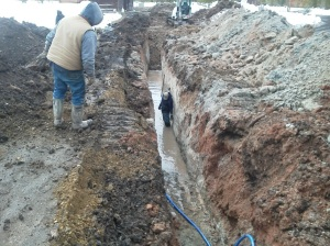 Trenching for new water pipes