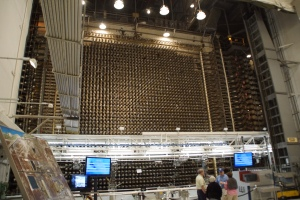 The actual reactor - front side of 2,004 tubes