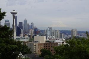 View of Seattle with Mt Rainer in the background