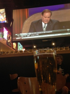 Drinking a draft while watching the draft
