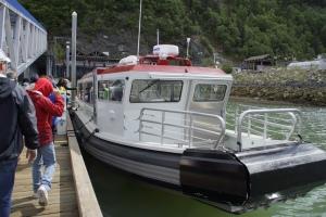 Skagway boat ride to glacier island